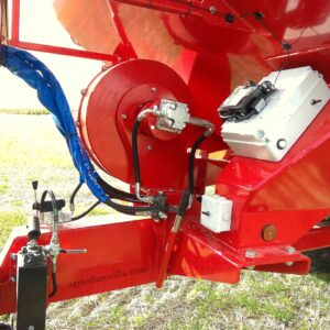 Sembradora neumática marca AGUIRRE, modelo TD-T 730 con ELECTRO DRIVE, Sola, Gil