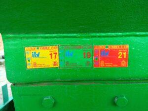 Abonadora usada de dos discos marca AGUIRRE AD 5000