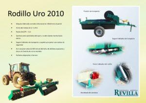 Rodillo agrícola similar a los de la marca Gaher, Metálicas Llorente, Vomer, Segues, Vila, Bagues y Yudego